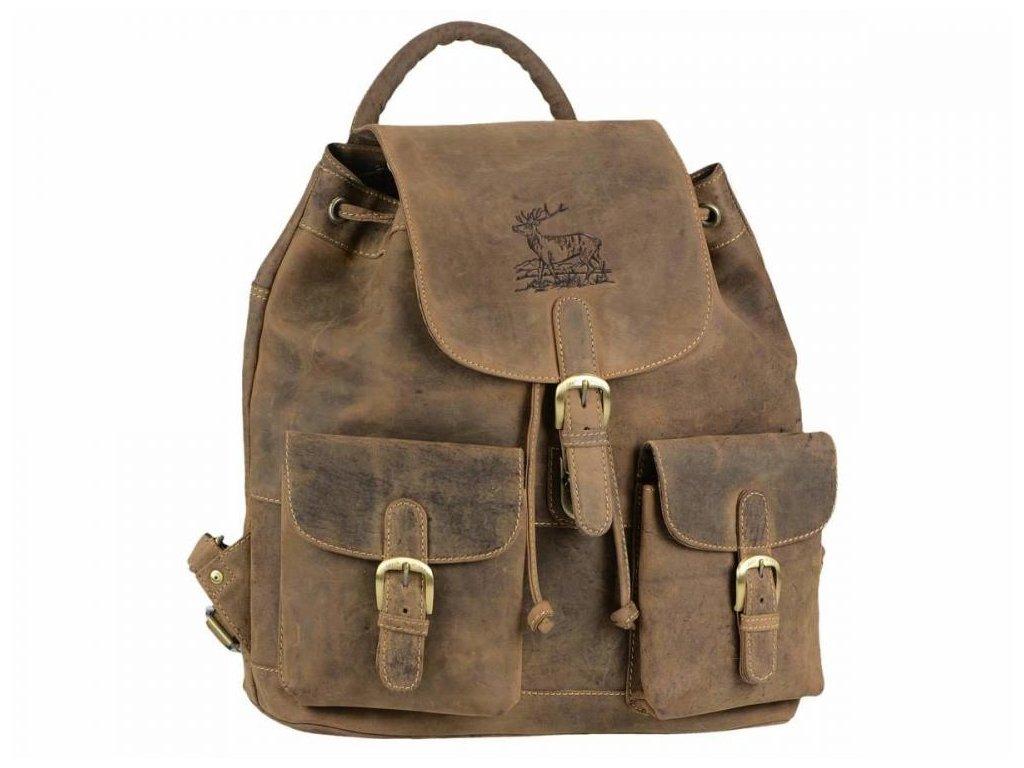 GREENBURRY 1711 Jeleň - kožený poľovnícky ruksak