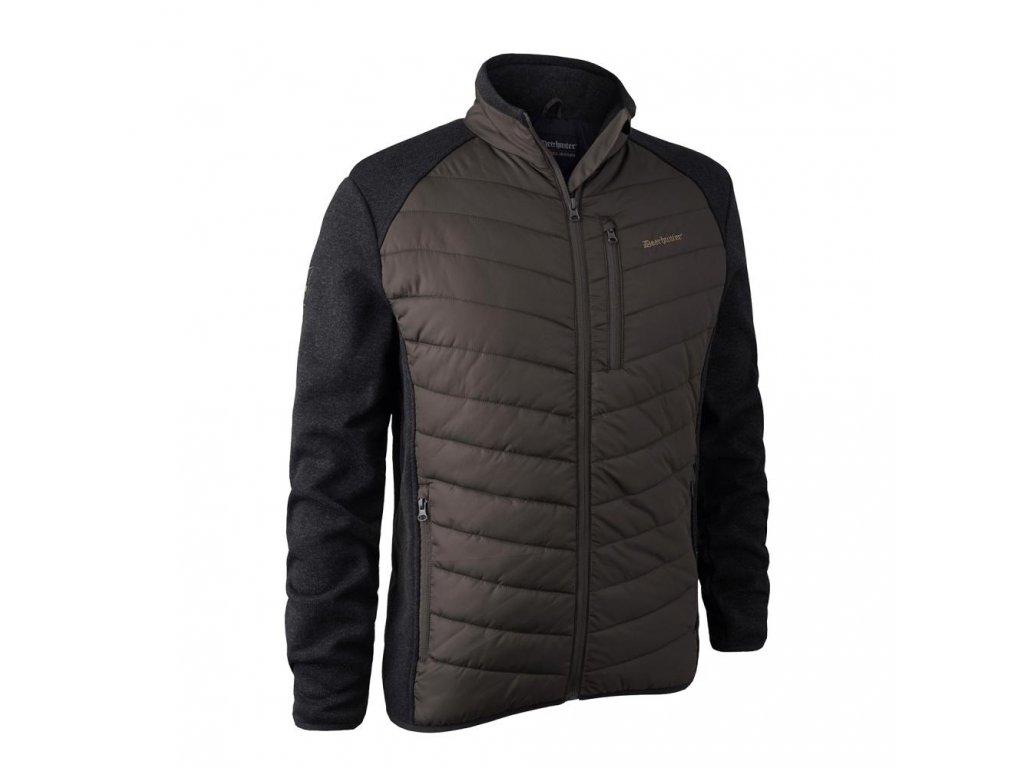 DEERHUNTER Moor Padded Jacket w. Knit Brown | bunda
