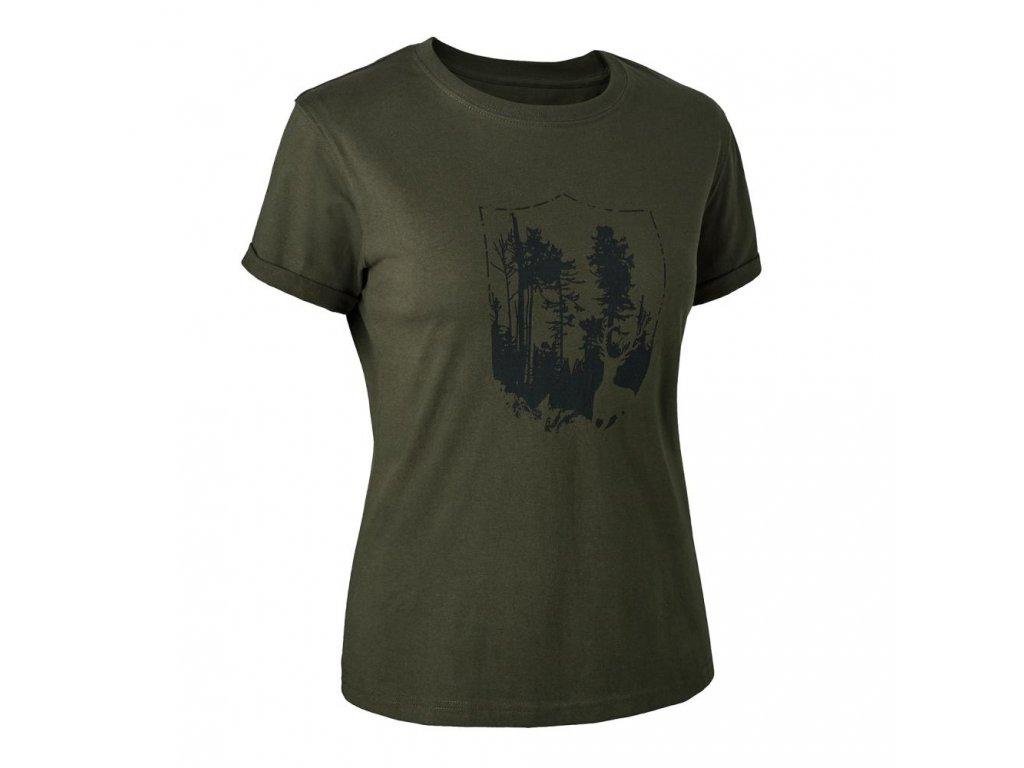 DEERHUNTER Lady T-shirt with Shield | dámske tričko