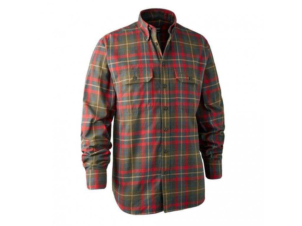 DEERHUNTER Marlon Shirt Red   košeľa s dlhým rukávom
