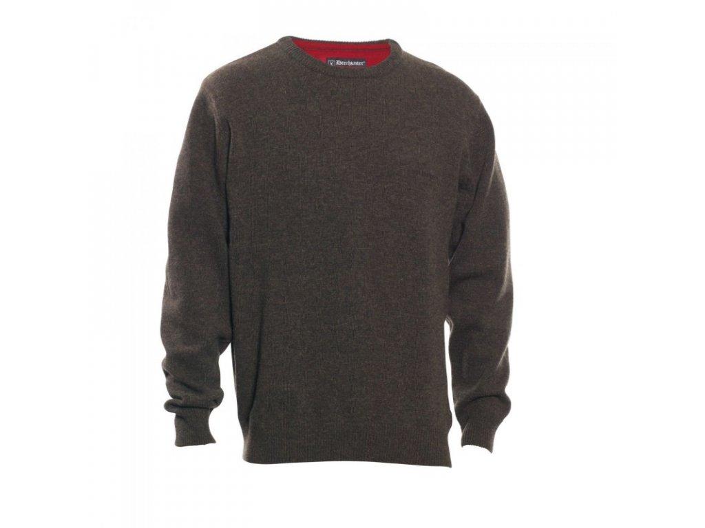 DEERHUNTER Hastings Knit O-neck   vlnený sveter