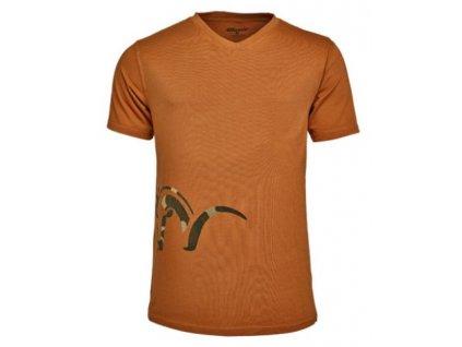 Tričko Blaser Logo V- ohnivo oranžové
