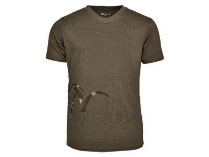 Tričko Blaser Logo V- olivové