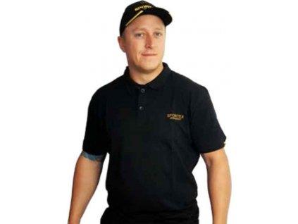 SPORTEX Classic Polokošeľa s logom - čierna