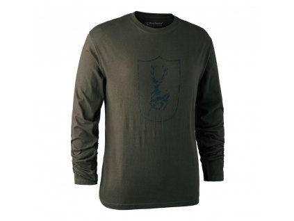 DEERHUNTER Shield Logo T Shirt L/S Shield | nátelník