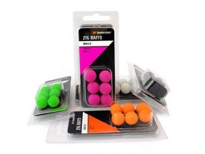 Nástraha - Zig-Balls 14 mm / 6ks - Tandem Baits