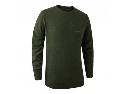 DEERHUNTER Brighton Knit O-neck Green | poľovnícky sveter