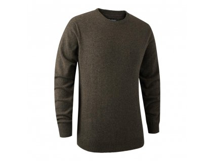 DEERHUNTER Brighton Knit O-neck Elm | poľovnícky sveter