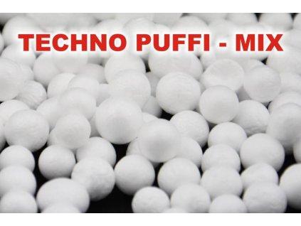 Polystyrénové guličky - techno puffi MIX