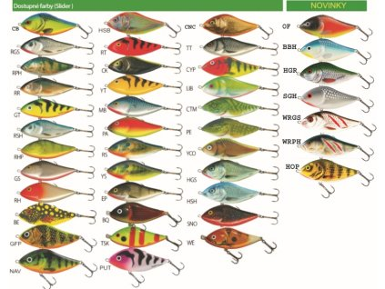 Salmo rybárske woblery slider SD12S