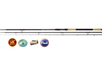 Feeder prúty Black Viper III 4,50m/250g 3-diel heavy