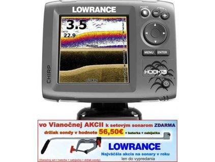 Sonar LOWRANCE Hook-5x Chirp so sondou
