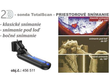 LOWRANCE TotalScan™ sonda Chirp/DSI/priestorové sníman