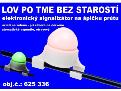 Signalizátor elektronický záberu na špičku