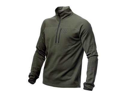 men midlayer halfzip green
