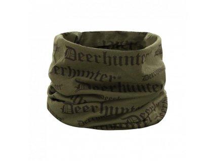 DEERHUNTER Logo Neck Tube Green | nákrčník