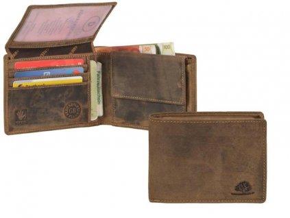 GREENBURRY 1705 - kožená peňaženka hnedá