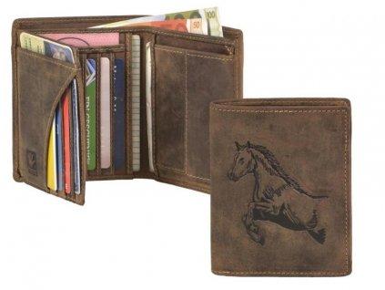GREENBURRY 1701 Kôň - kožená peňaženka hnedá
