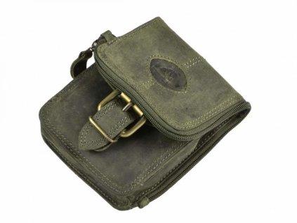 GREENBURRY 326 - kožená taštička zelená