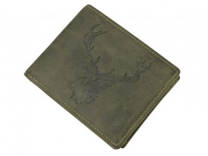 GREENBURRY 1705 Kráľovský jeleň - kožená peňaženka zelená
