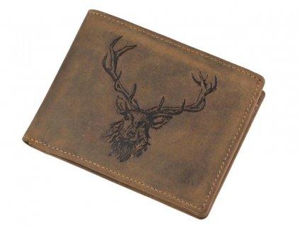 GREENBURRY 1705 Kráľovský jeleň - kožená peňaženka hnedá