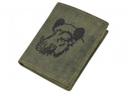 GREENBURRY 1701 Diviak - kožená peňaženka zelená