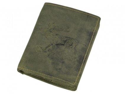 GREENBURRY 1701 Jeleň - kožená peňaženka zelená