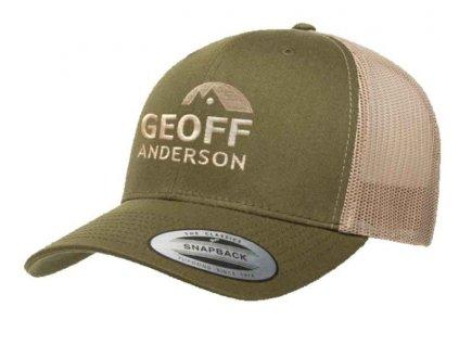 Geoff Anderson šiltovka sieťová Snapback zelená s logom