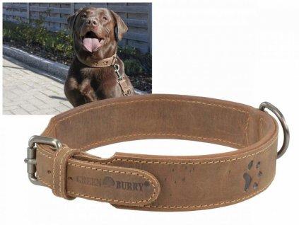 GREENBURRY Dog Neckholder 51-58cm - kožený obojok