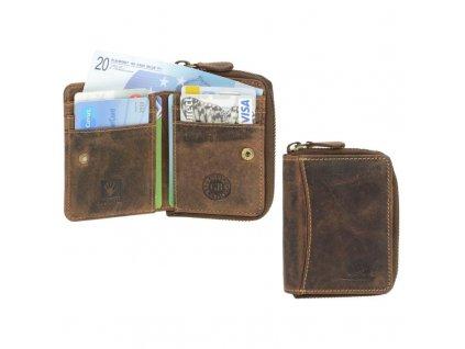 GREENBURRY 1667 - kožená mini peňaženka