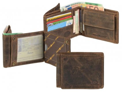 GREENBURRY 1705B - kožená peňaženka hnedá