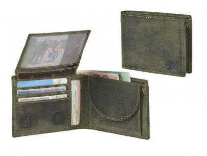 GREENBURRY 1705 - kožená peňaženka zelená