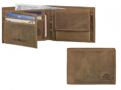 GREENBURRY 1799 - kožená mini peňaženka
