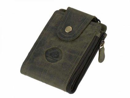 GREENBURRY 324 - kožená peňaženka zelená