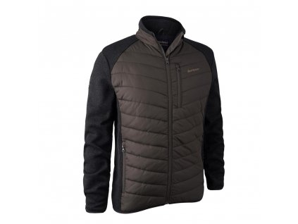 DEERHUNTER Moor Padded Jacket w. Knit Brown | bunda