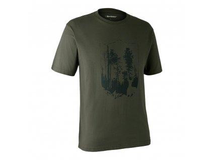 DEERHUNTER T-shirt with Shield | poľovnícke tričko