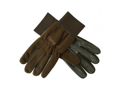 DEERHUNTER Fleece Leather Gloves | flísové rukavice