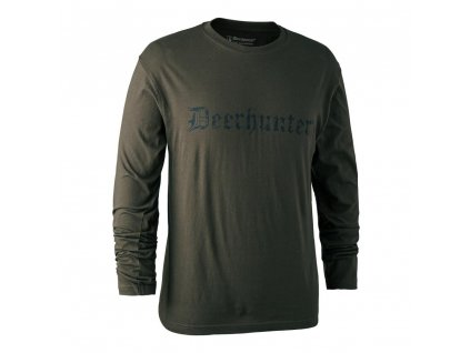 DEERHUNTER Logo T Shirt L/S | nátelník s nápisom