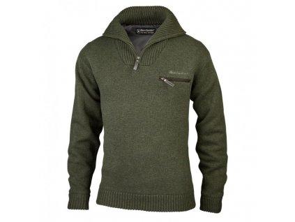 DEERHUNTER Kendal Kint Zip Neck Green   funkčný sveter