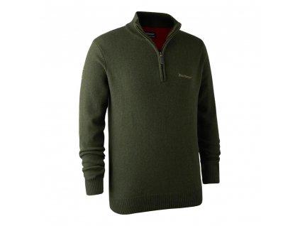 DEERHUNTER Hastings Knit Zip-neck - poľovnícky sveter