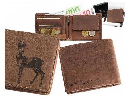 Kožená peňaženka srnec ležatá
