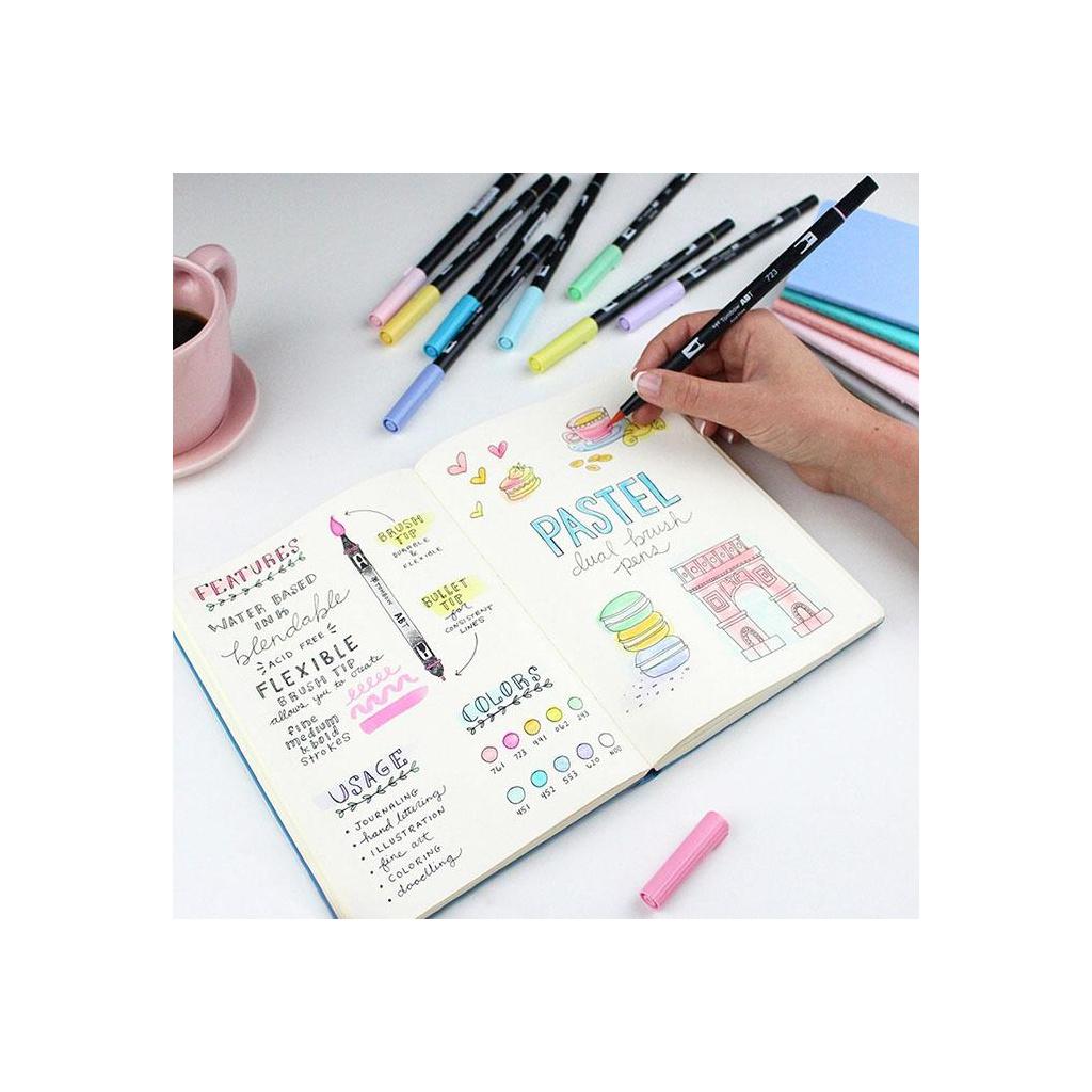 Tombow ABT Dual Brush Pen 10 Color Set Pastel 2 1024x1024