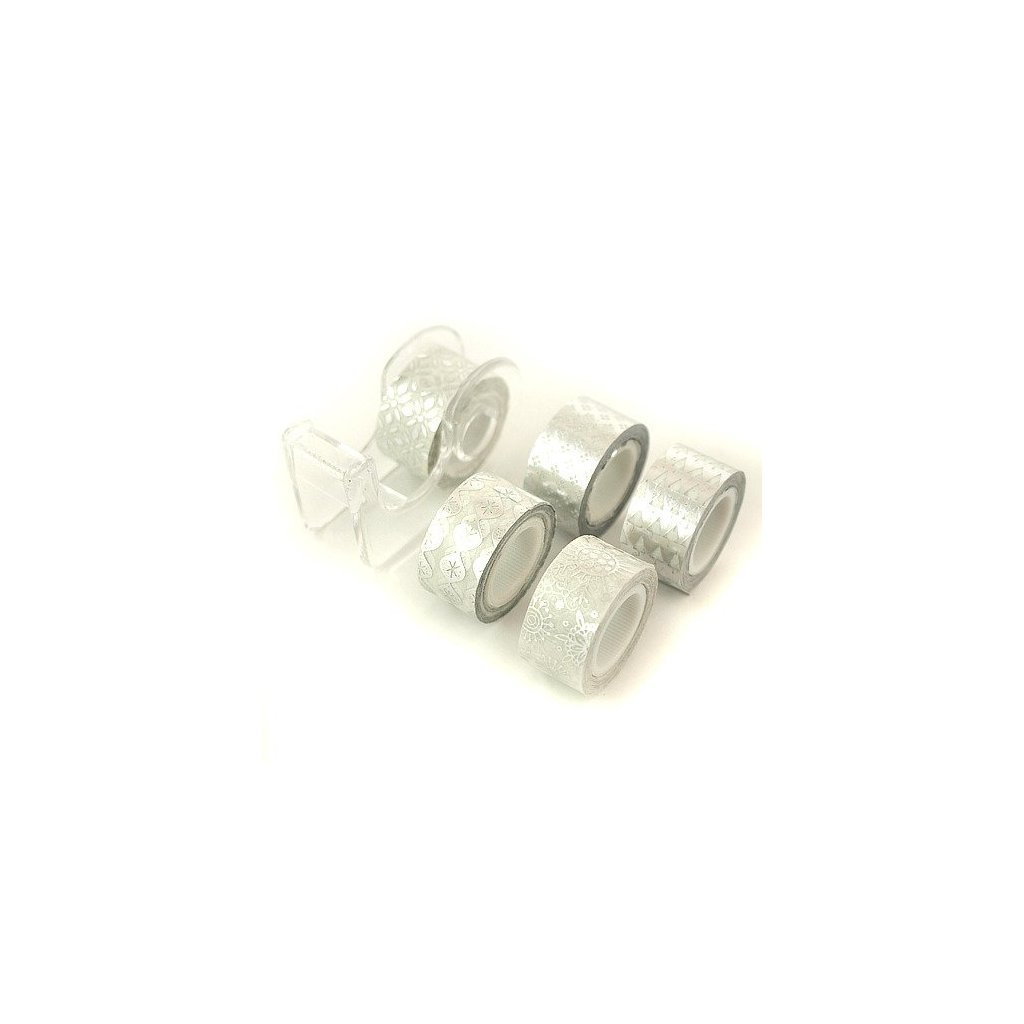 pol pl Tasma dekoracyjna srebrna 12 mm 3m 5 sztuk 33813 1
