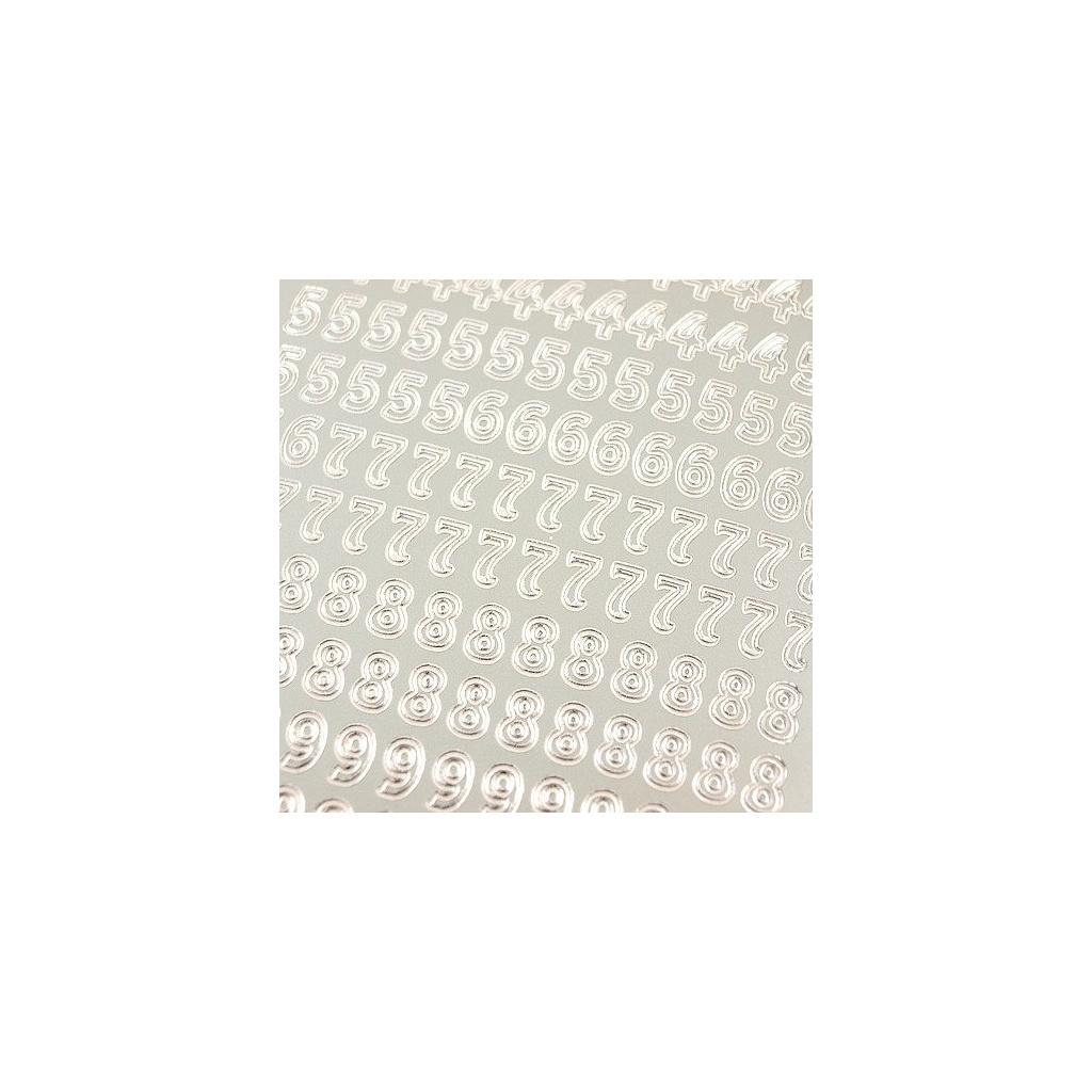 pol pl Stickers azurowy srebrny 10x23 cm cyfry 15814 2