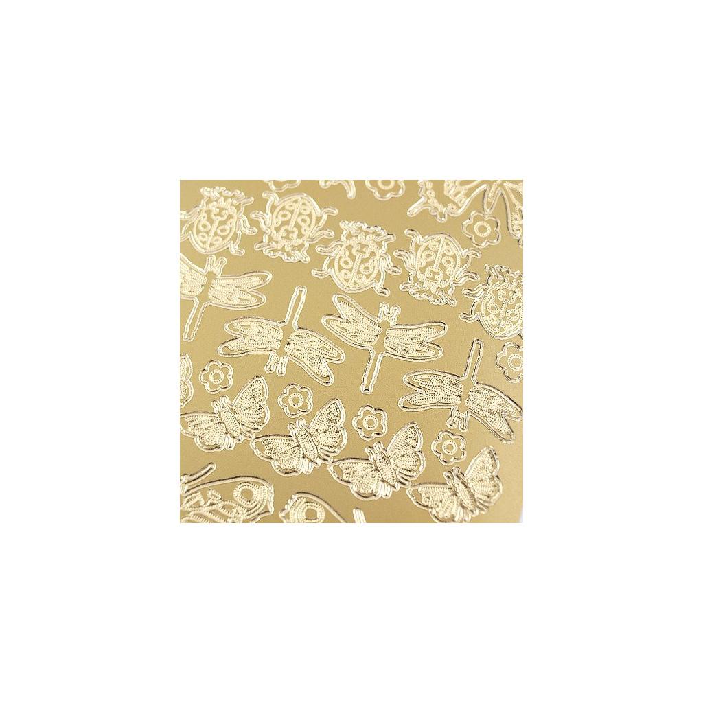 pol pl Stickers azurowy zloty 10x23 cm motyle i biedronki 31801 2