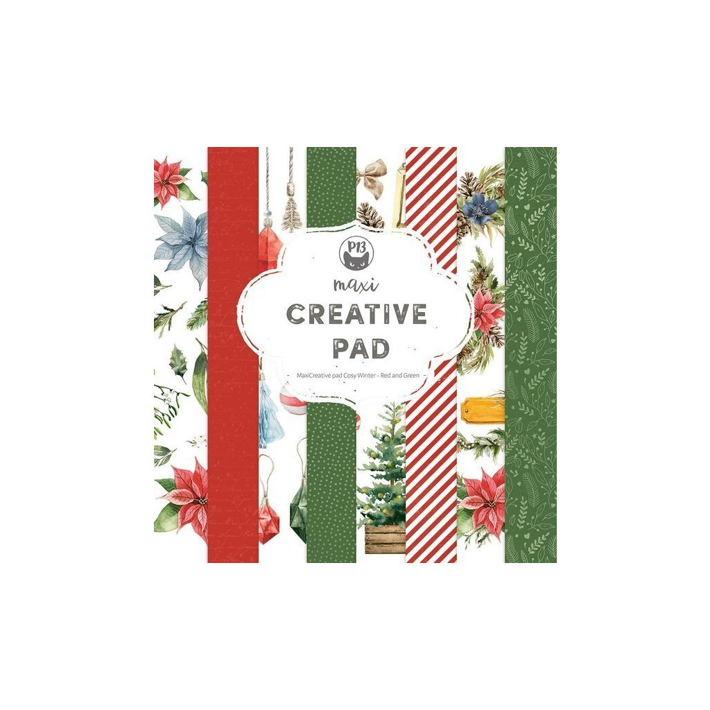 pol pl Zestaw papierow 30x30 Cosy Winter Red and Green 36818 8