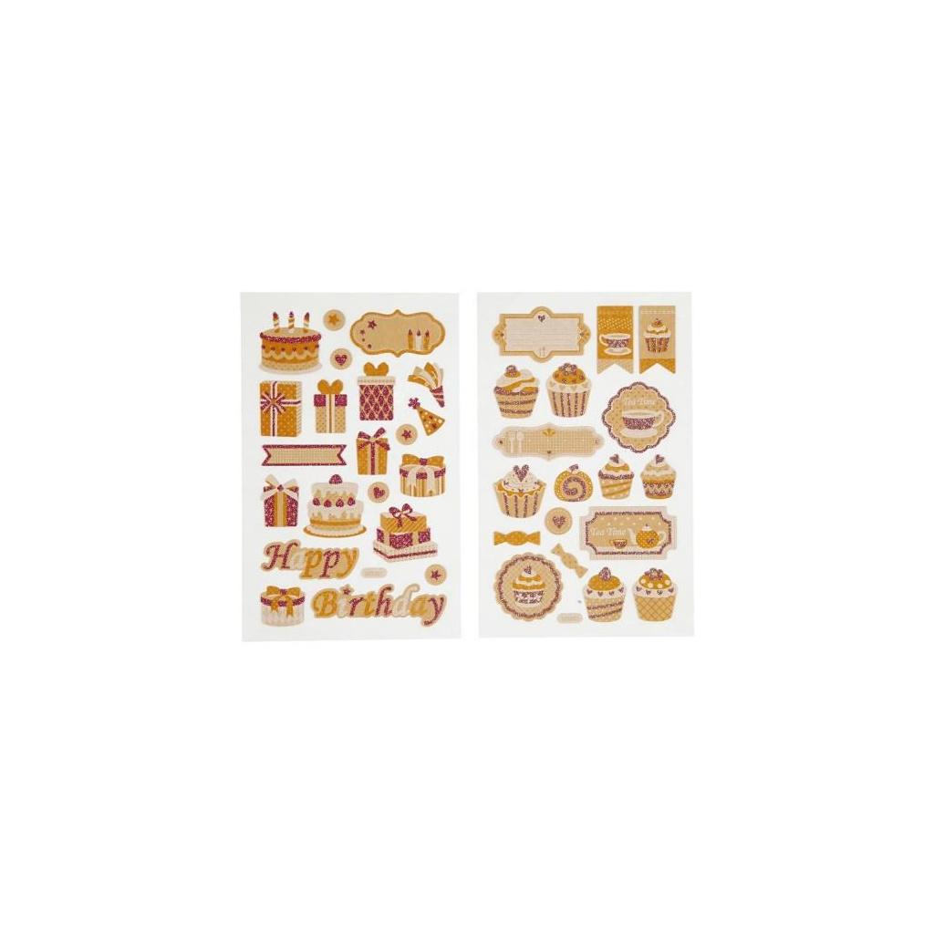 pol pl Papierowe naklejki z brokatowymi zdobieniami 103 30454 1