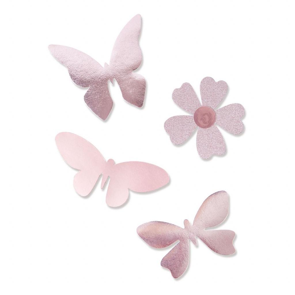 Motýlci a květ - vyřezávací šablona Bigz Plus A4