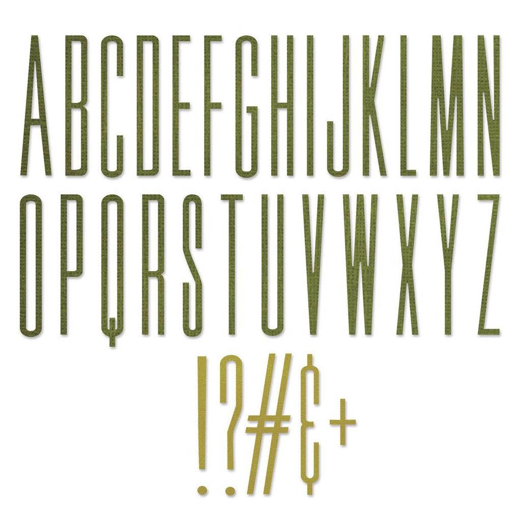 Písmena velká - vyřezávací kovové šablony Thinlits (31ks)