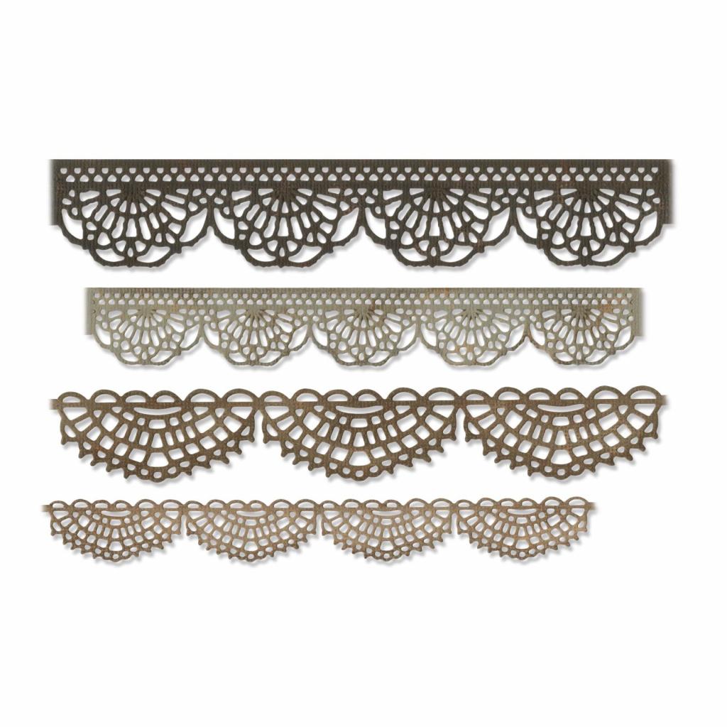 Bordura krajka - vyřezávací kovové šablony Thinlits (4ks)